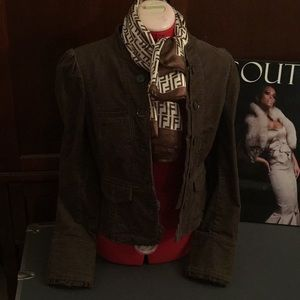 Jackets & Blazers - Adorable thin corduroy jacket, Size 6, Color Brown
